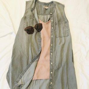 Gray Merona Chambray Vest